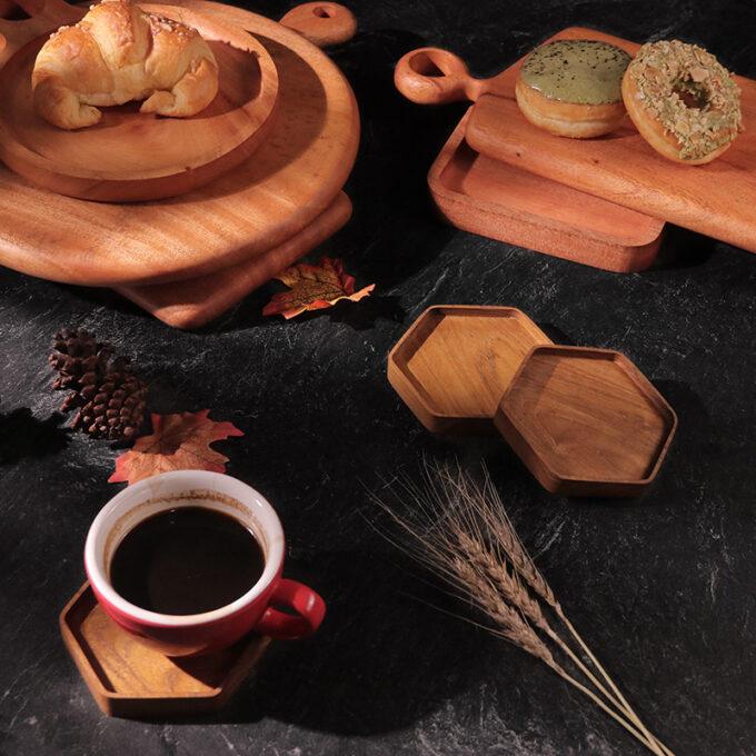 Hexa Coffee Tray Kayu Jati Kayukama Editorial
