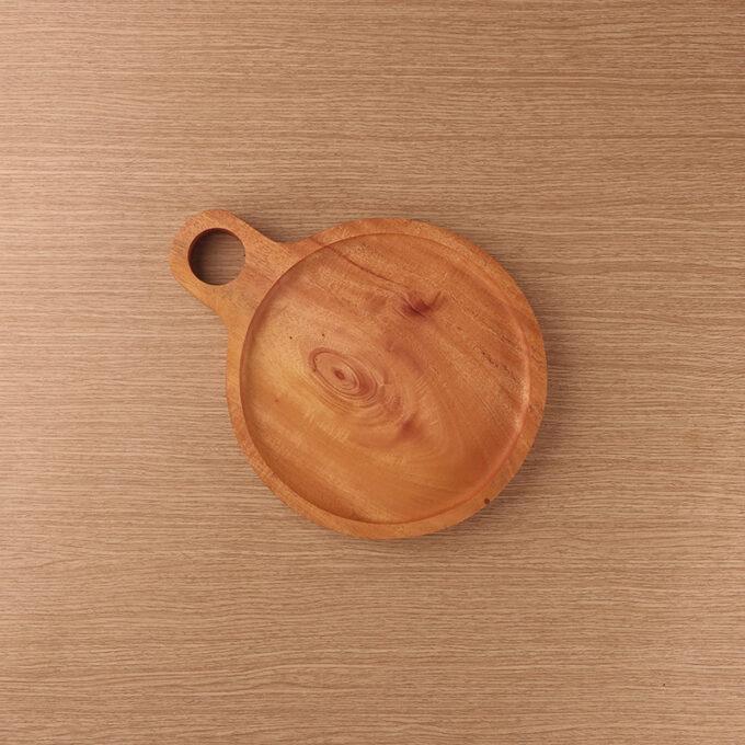 Medium Plate With Ears Kayu Mahoni Kayukama Front View
