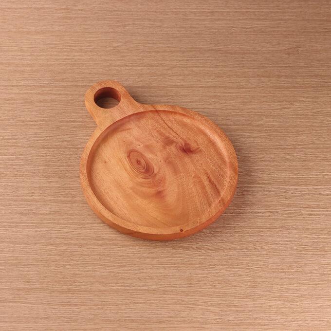 Medium Plate With Ears Kayu Mahoni Kayukama Side View