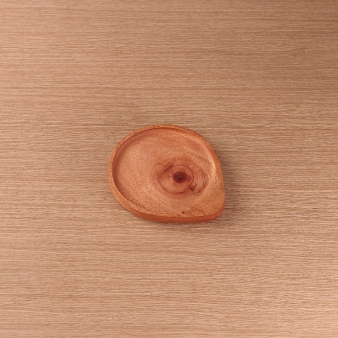 Small Plate Kayu Mahoni Kayukama Side View